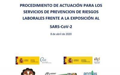 Guía ministerial para la prevención de riesgos laborales frente al COVID-19