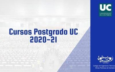 Cursos de postgrado de la Universidad de Cantabria 2020-21