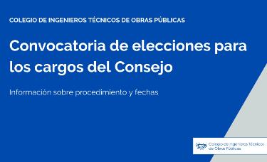 Convocatoria de elecciones para los cargos del Consejo del CITOP